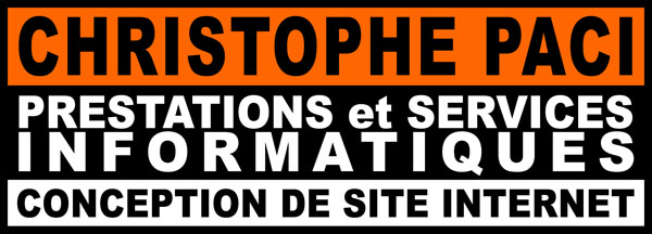 Christophe PACI - Prestations et services Informatiques - Conception de site internet